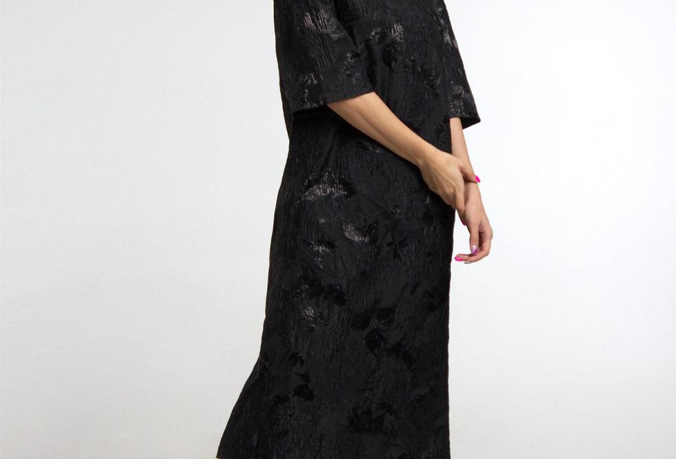 Платье из органзы / Черное