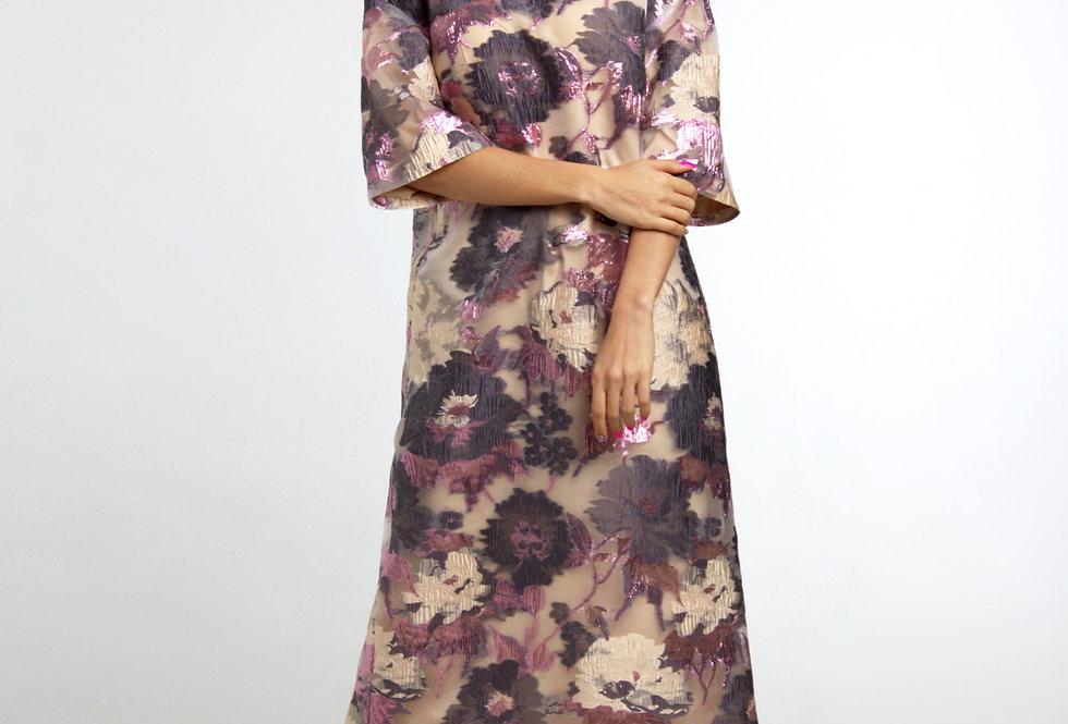 Платье из органзы / В лиловых тонах