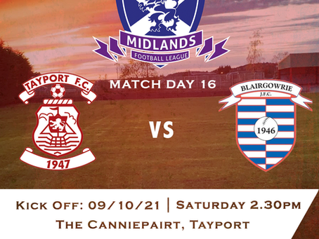 Tayport FC v Blairgowrie (9/10/21)