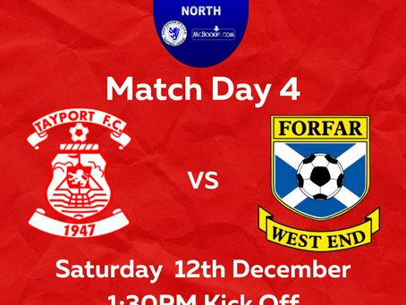 Match Highlights Tayport FC v Forfar West End