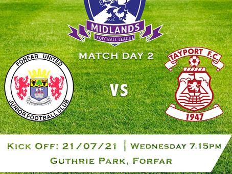 Forfar United v Tayport FC