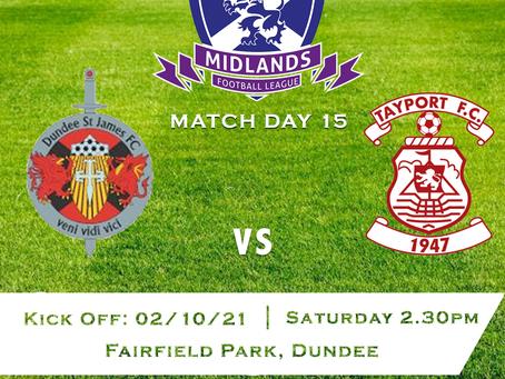 Dundee St James v Tayport FC - 2/10/21