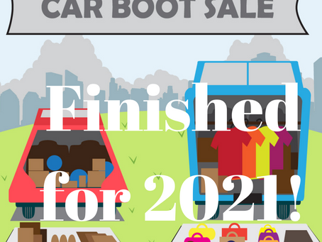 Car Boot Sales finished for 2021