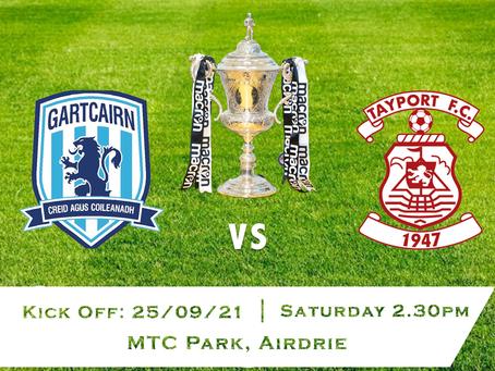 Gartcairn FC v Tayport FC - Scottish Junior Cup 2nd Round - 25/9/21
