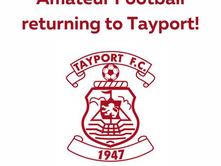 Amateur Football returning to Tayport!