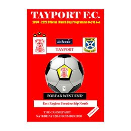 Tayport FC v Forfar West End