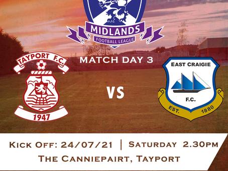 Tayport FC v East Craigie