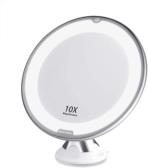 BEAUTURAL 10X Magnifying Makeup Mirror with LED