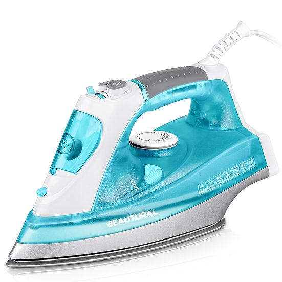 BEAUTURAL 1800 Watt Steam Iron for Clothes with Precision Thermostat Dial