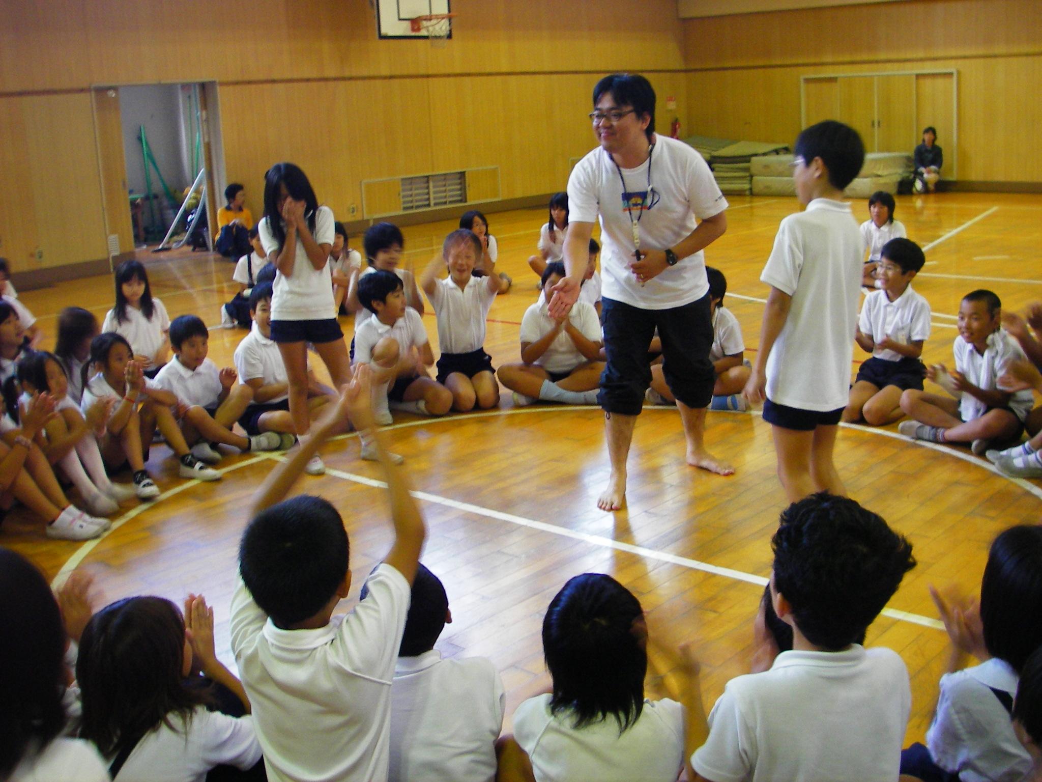 大阪市内の小学校でのワークショップ①