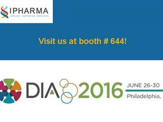 Join us at DIA 2016 52st Annual Meeting, Philadelphia, June 26-30, 2016