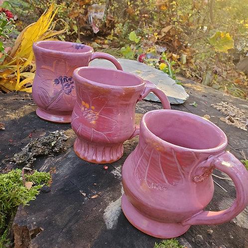 Pink Floral Mugs