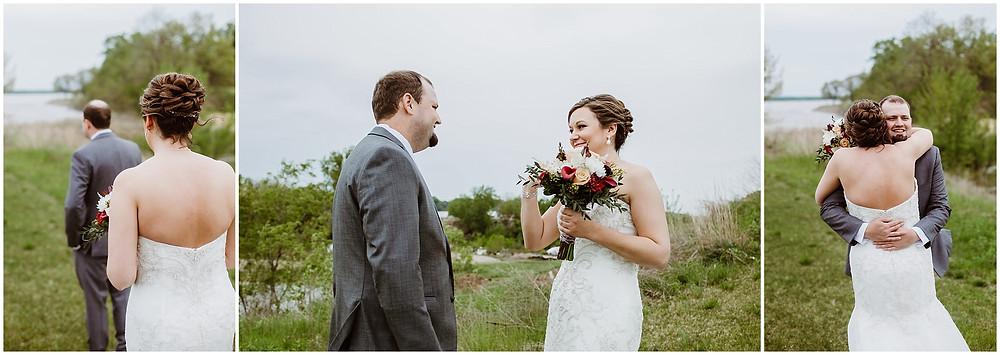 Iowa Wedding Photographer First Look