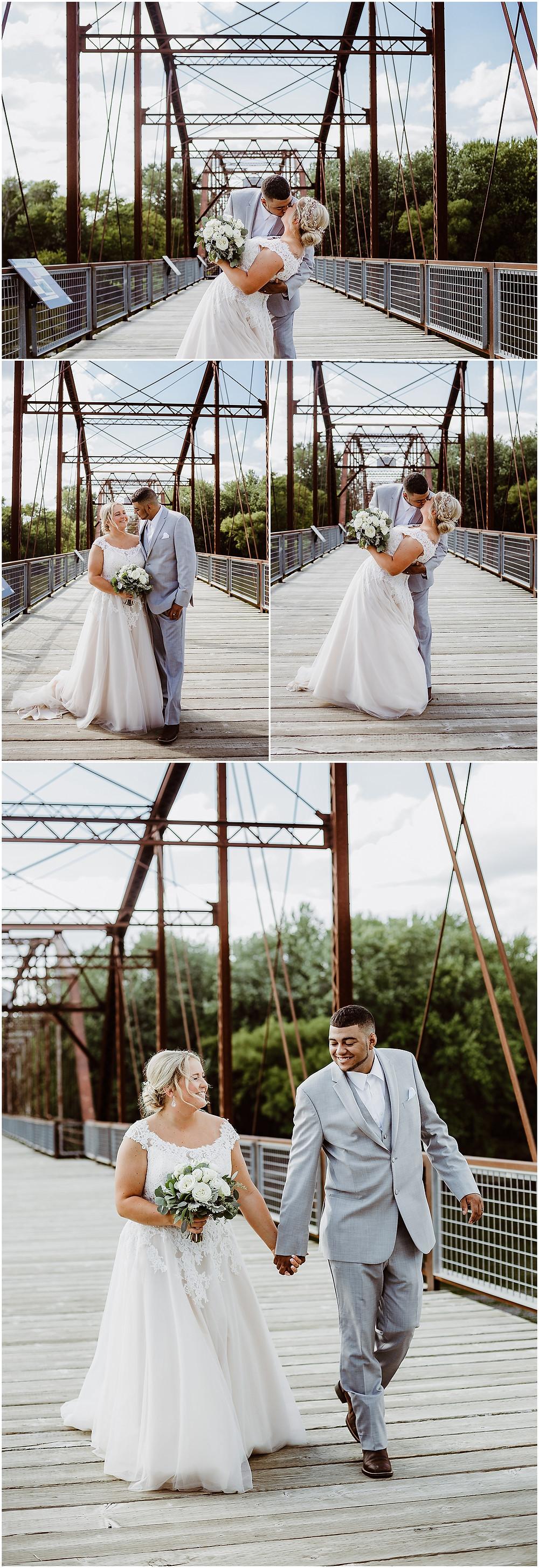 Iowa Wedding Photographer Sutliff Bridge