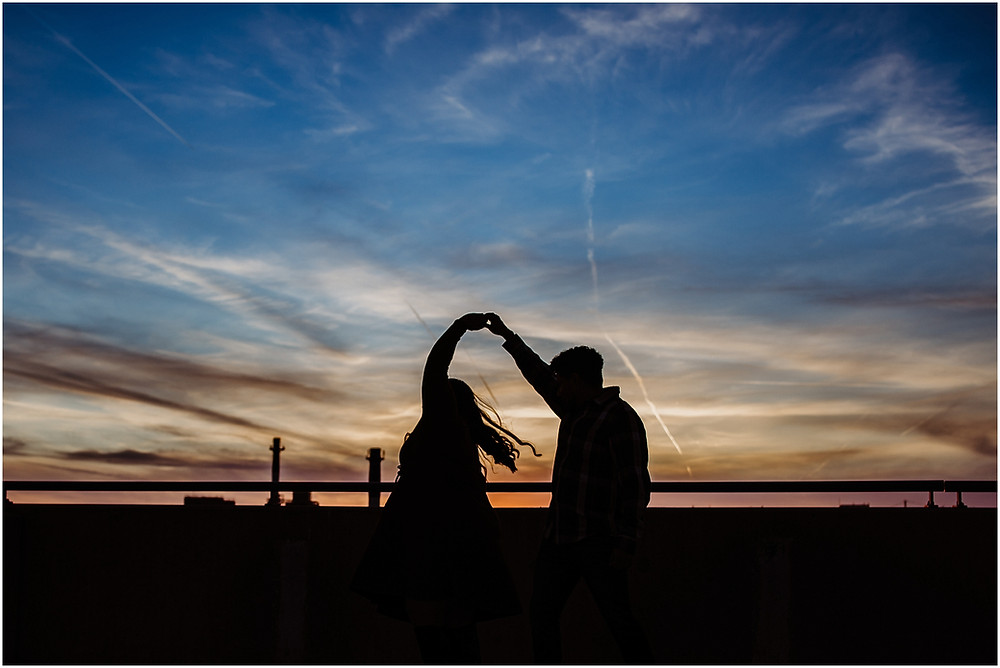 Sunset Silhouette Engagement