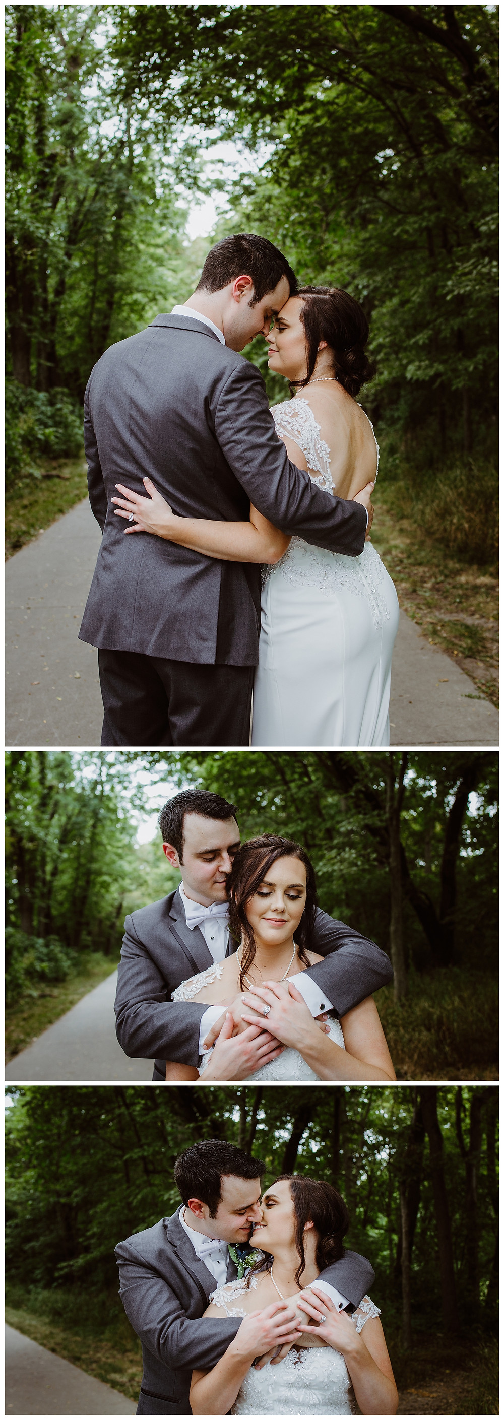 Intimate Iowa Wedding bride and groom