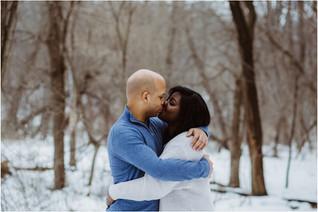 Gina + Leonard | Winter Engagement in Iowa City