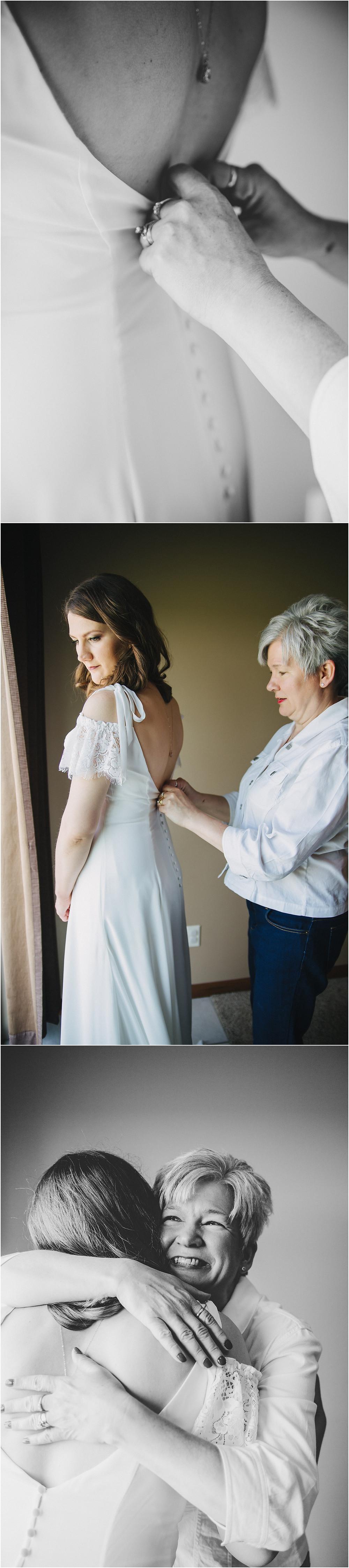 Dubuque Iowa Wedding getting ready