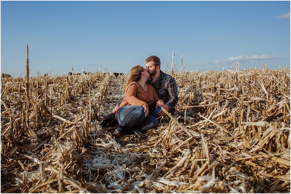 Iowa Farm Engagement Session
