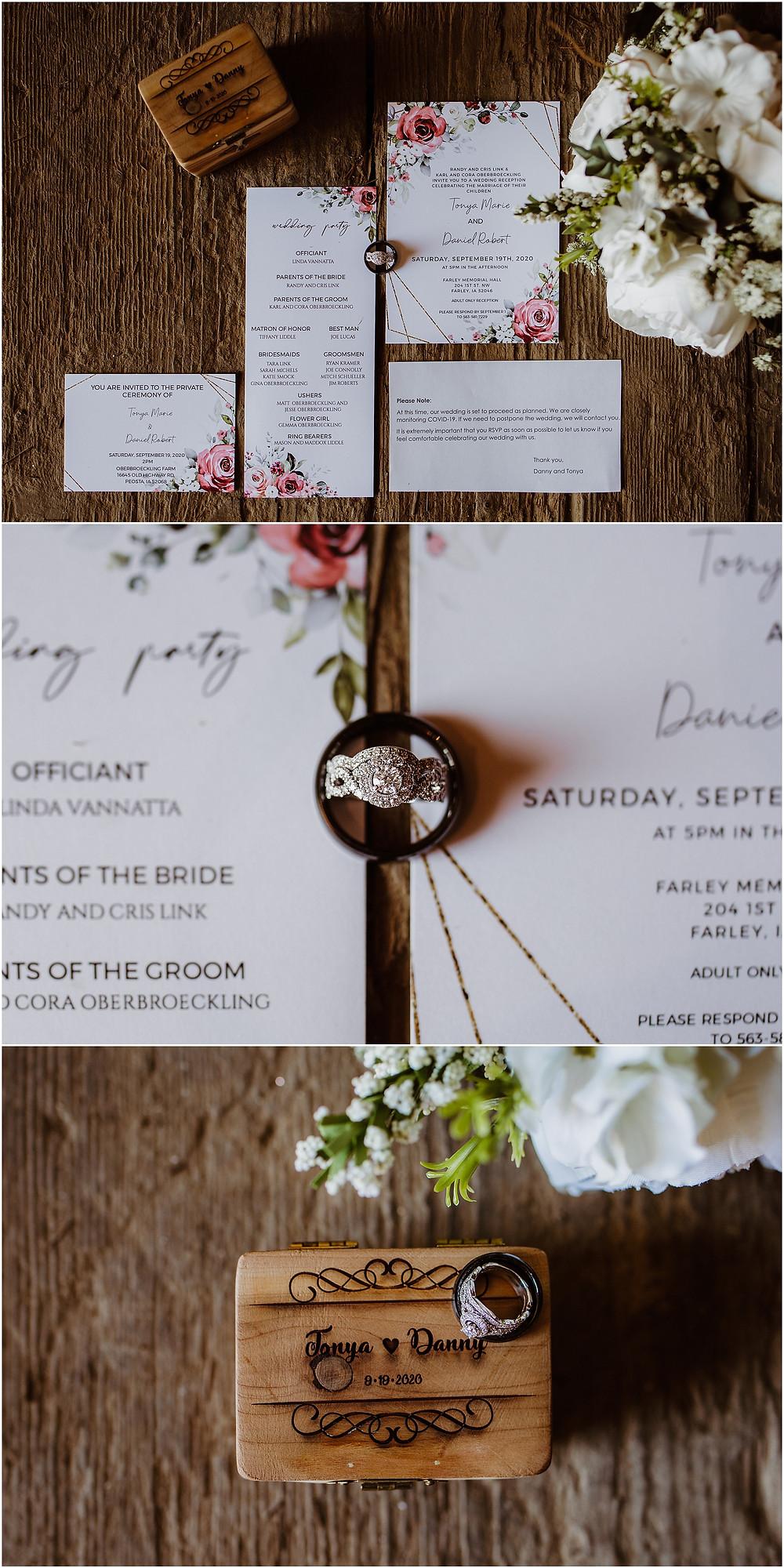 Iowa Wedding Details