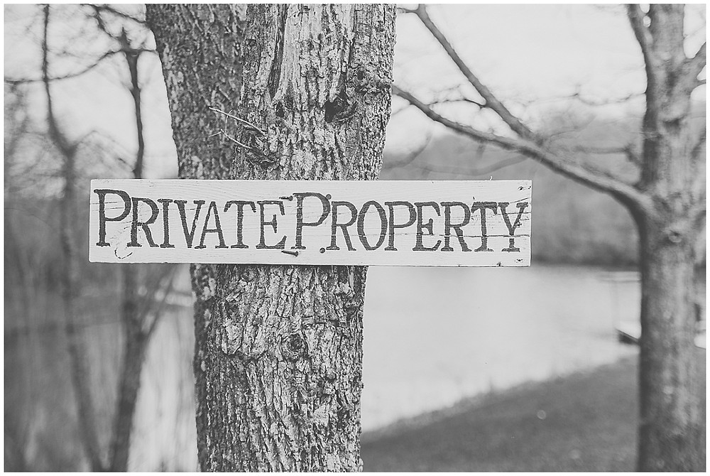 PRIVATE PROPERTY SIGN ENGAGEMENT PHOTOS