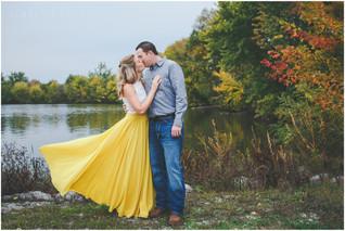 Melissa + Andrew | Lake McBride, Iowa Engagement