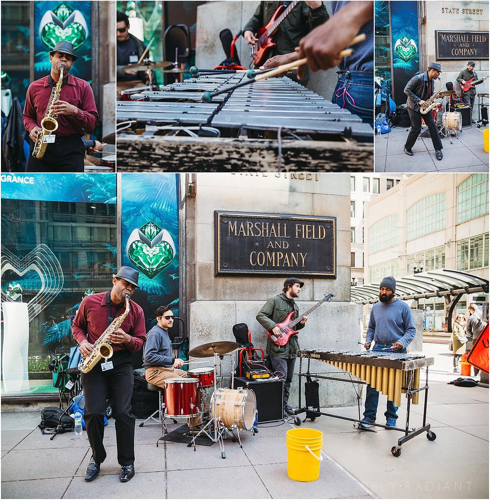 Chicago Traffic Jam street musicians