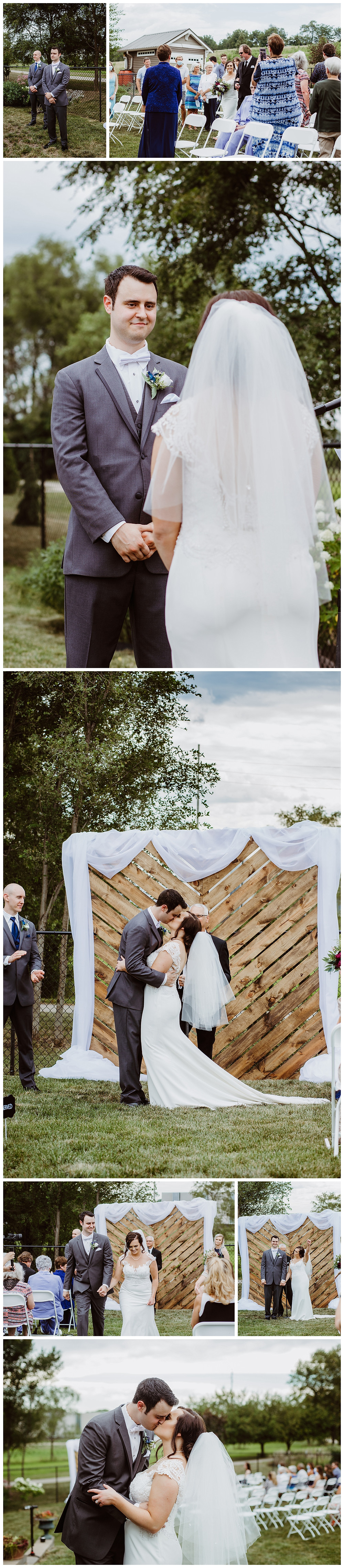 Intimate Iowa Wedding ceremony
