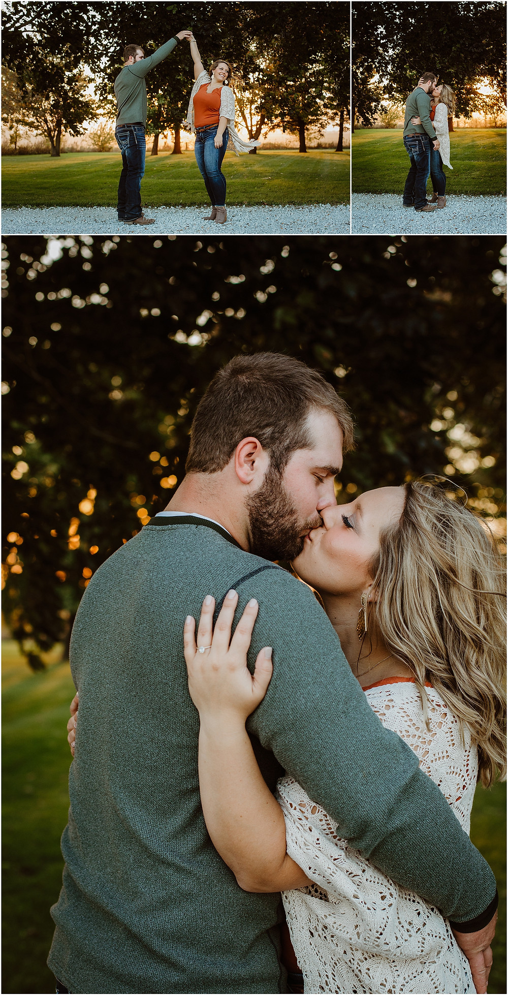 Iowa Golden Hour Engagement Session