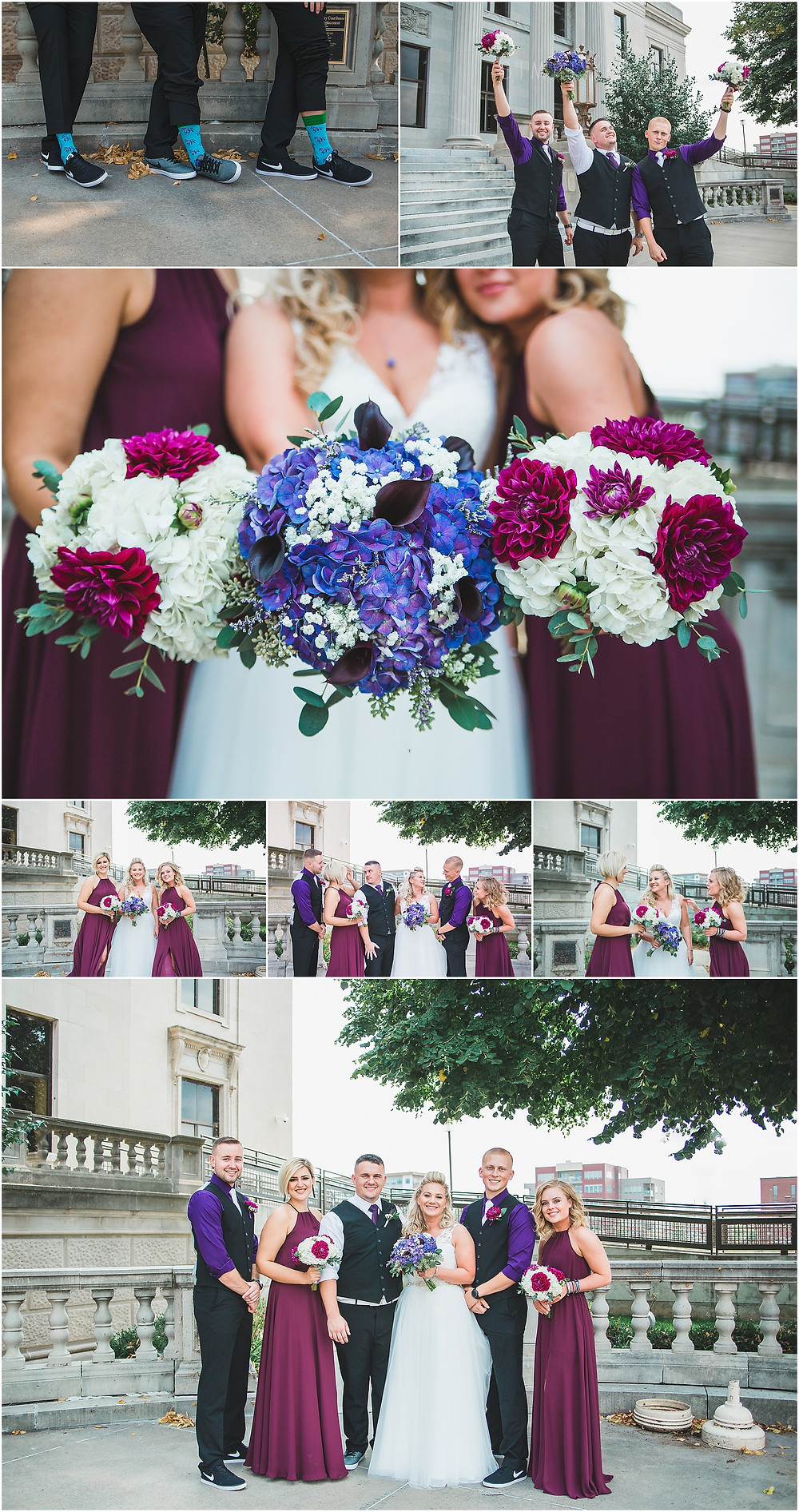 Cedar Rapids Wedding Eastbank Venue Bridal Party Photography