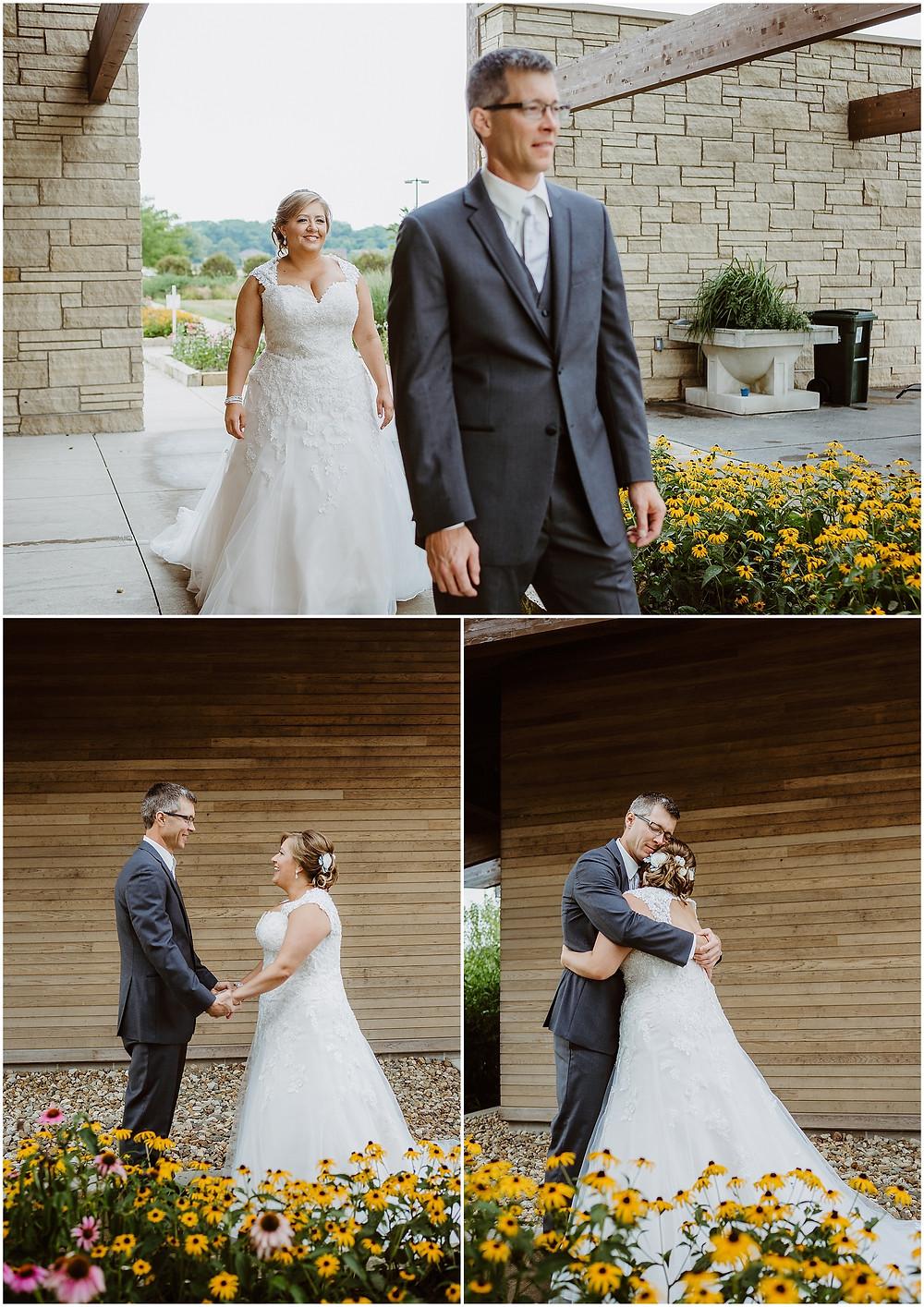 Iowa City Wedding First Look