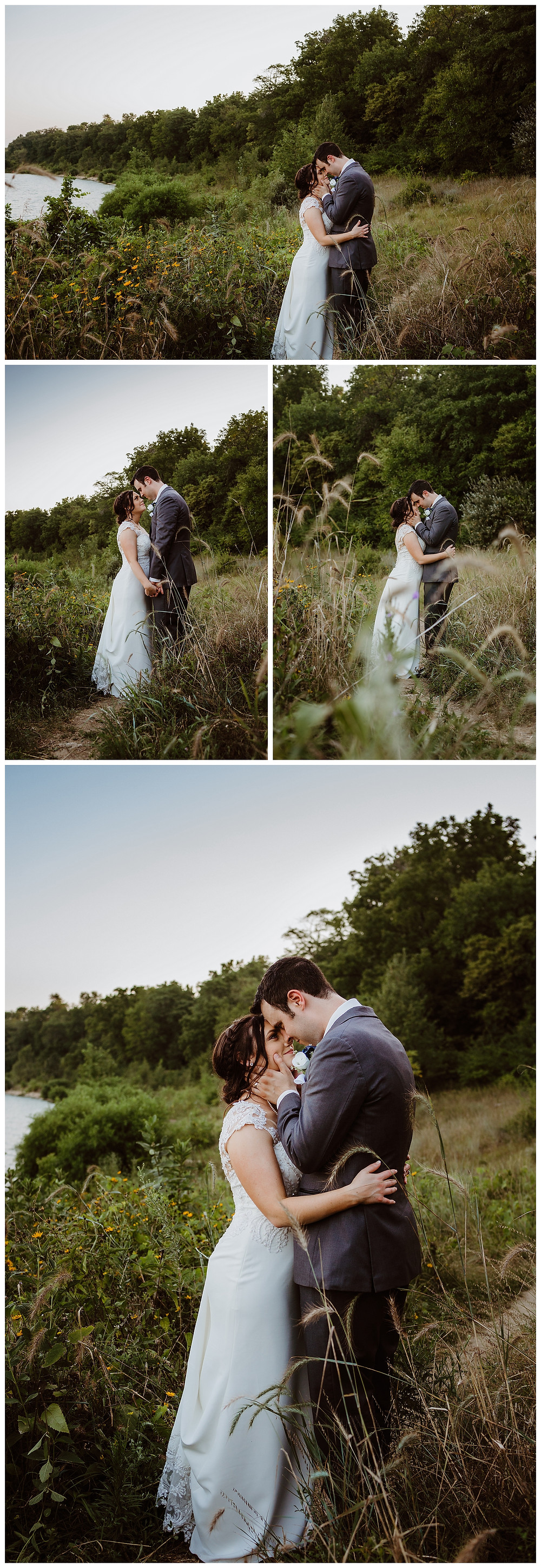 Intimate Iowa Wedding bride and groom golden hour terry trueblood