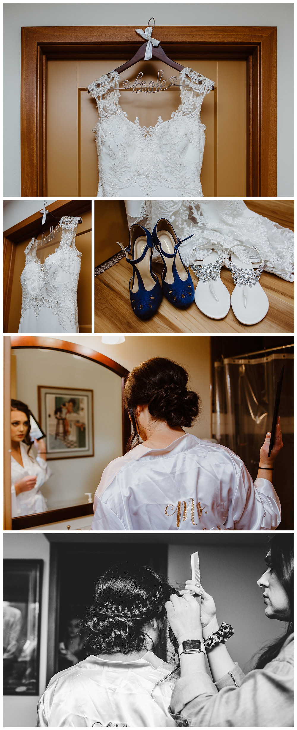 Intimate Iowa Wedding dress