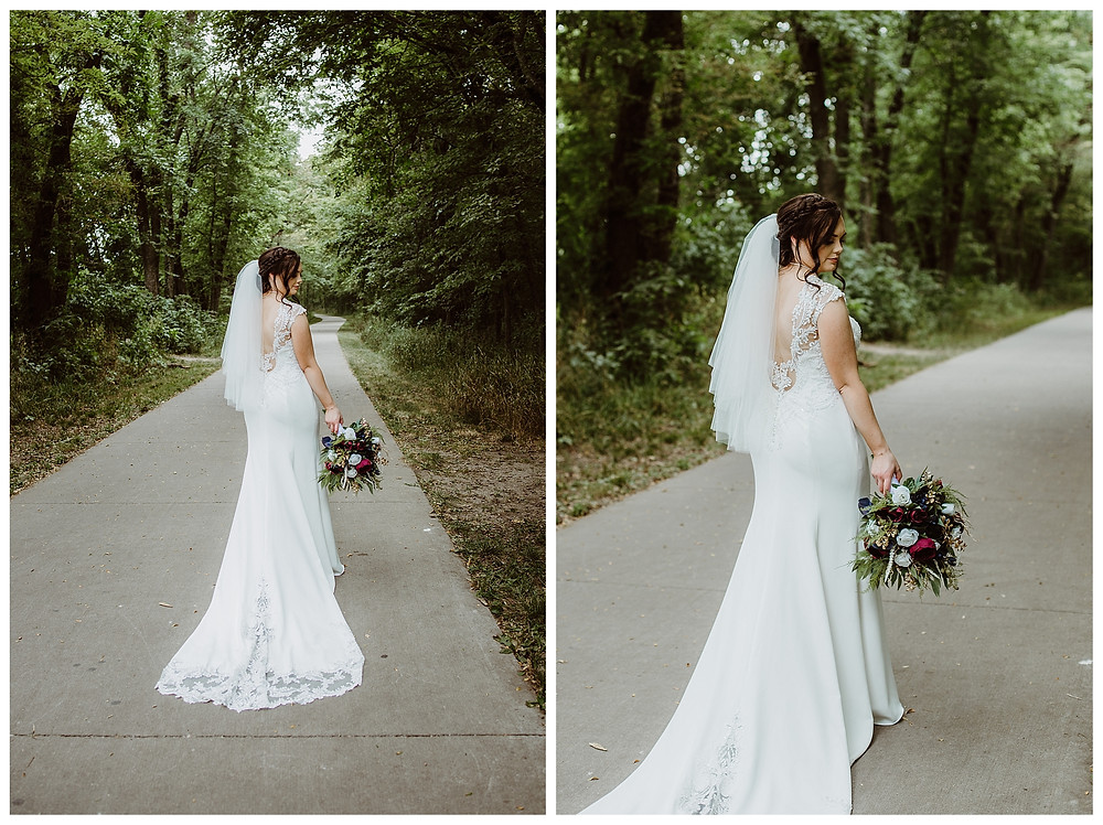 Intimate Iowa Wedding bride