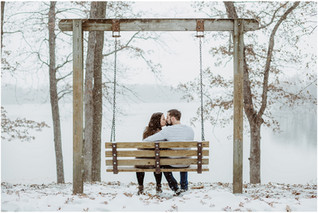 Sami + Josh | Snowy Lake MacBride Engagement
