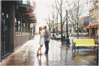 Megan & Nick's Rainy Day Engagement