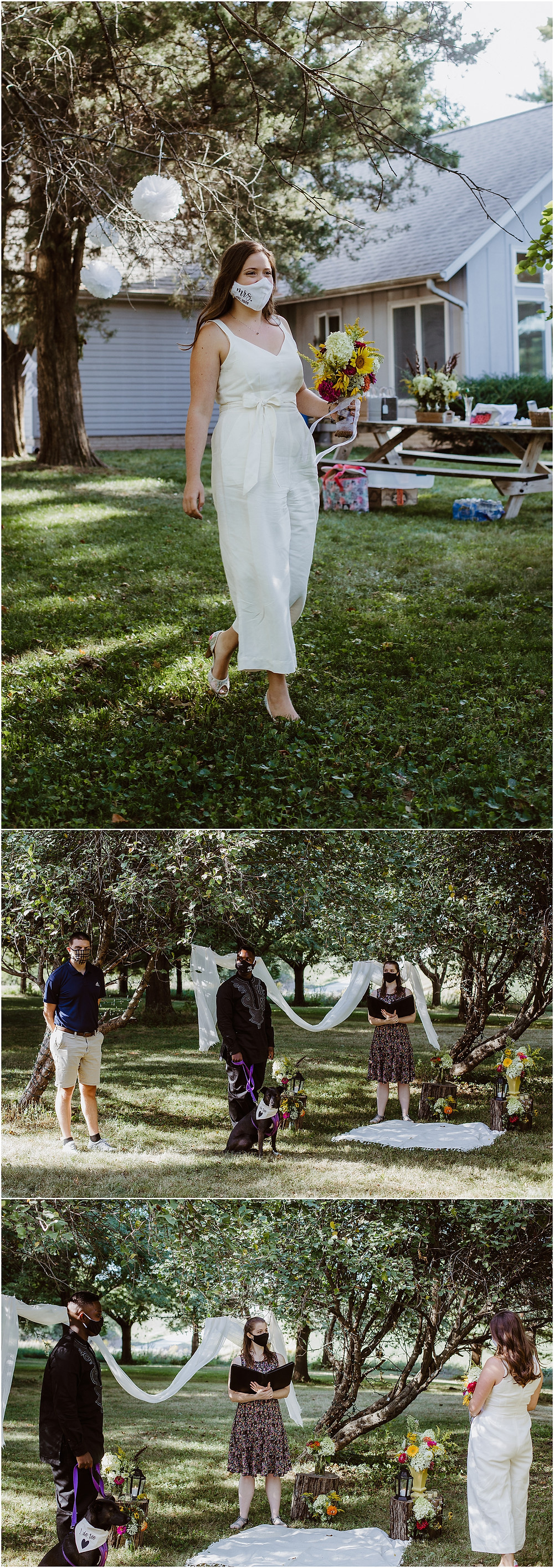 Iowa Backyard Elopement