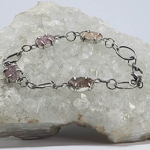 Four-Stone Druzy & Sterling Bracelet