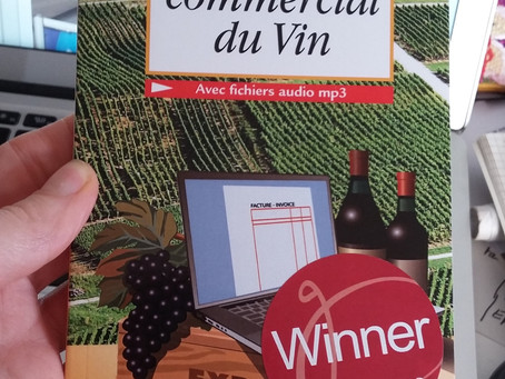 [Winner] Gourmand Cookbook Award pour l'Anglais commercial du vin