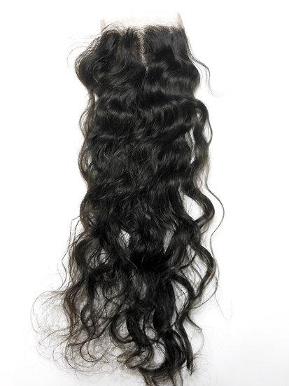 Raw Virgin Indian Natural Wavy Lace Closure