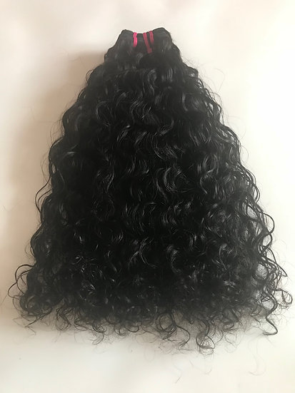 Brazilian Curly Double Drawn