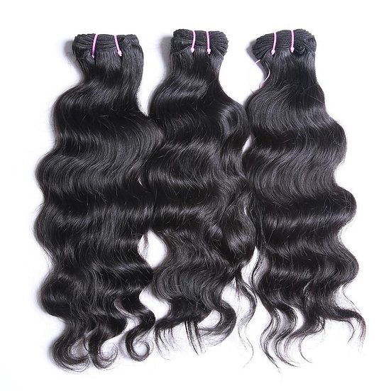Raw Virgin Indian Natural Wavy Bundles