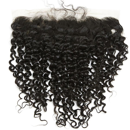 DEEP CURLY 13X4 SWISS LACE FRONTAL