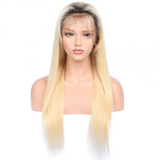 Full Lace Wig Blonde 130% with roots