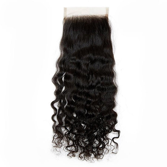 UNPROCESSED INDIAN CURLY LACE CLOSURE