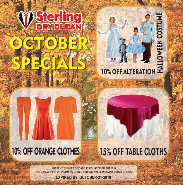 Special Offers for October 2018