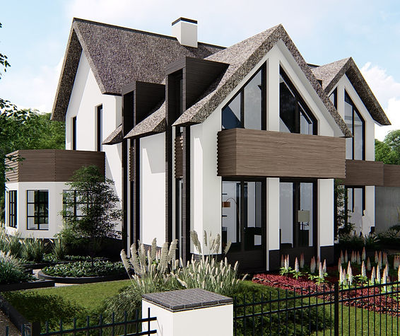 Nieuwbouw architect Landelijk Modern