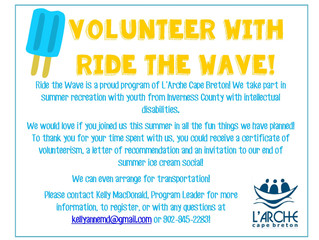 Ride the Wave Volunteer Opportunity