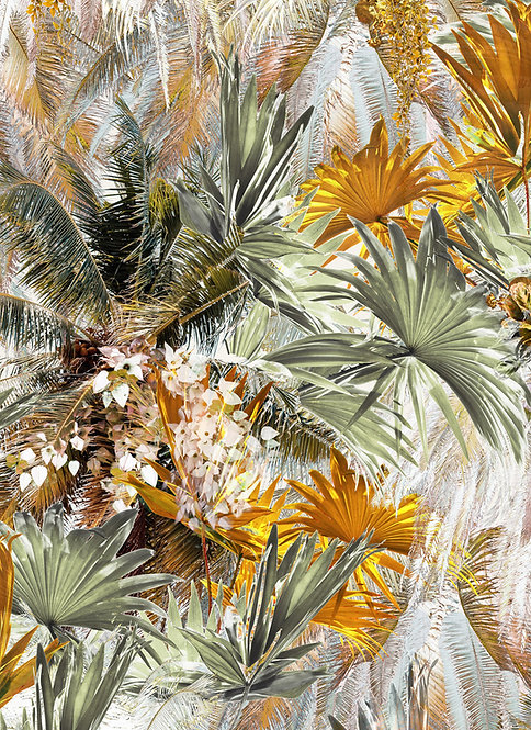 Palm Leaf wallpaper pattern with tropical print by Good and Craft, Good & Craft