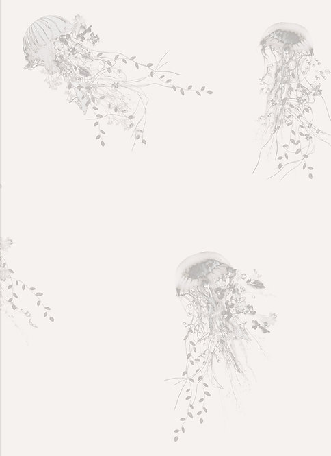 Nautical wallpaper with jellyfish pattern by Good and Craft, Good & Craft